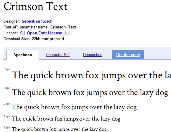 custom fonts on website