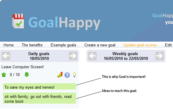 goal setting application