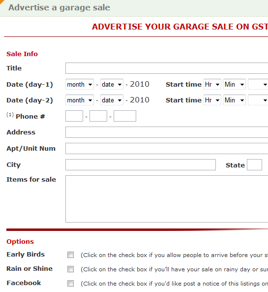 gst   GarageSalesTracker: List & Find Garage Sales In Your Area