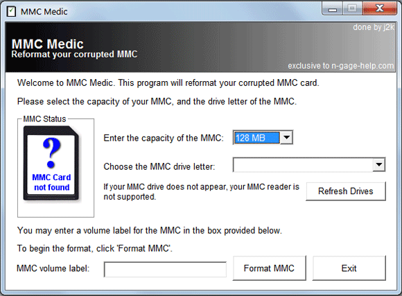 image thumb13   MMC Medic: Formats Corrupt Memory Cards Without Hassle
