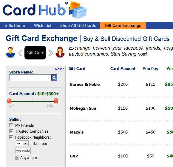 discount gift cards on the web