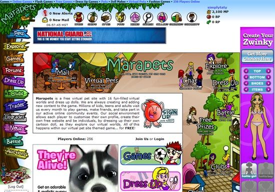 virtual pet sites like neopets