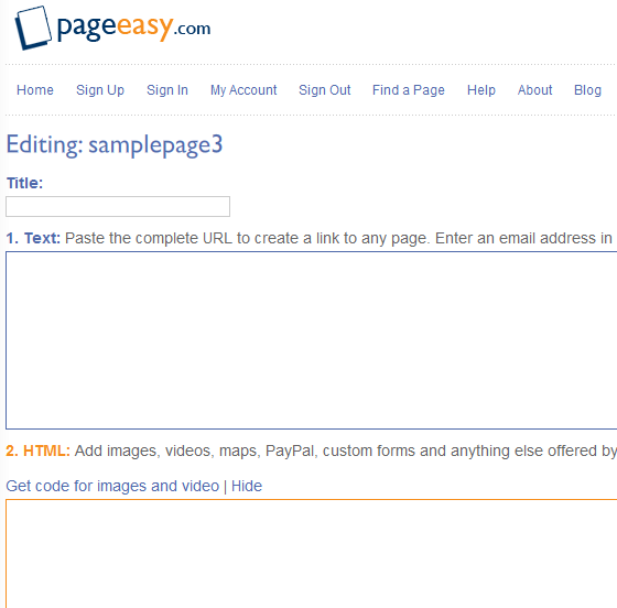 pageeasy   PageEasy: Create A Free Temporary Web Page Within Seconds