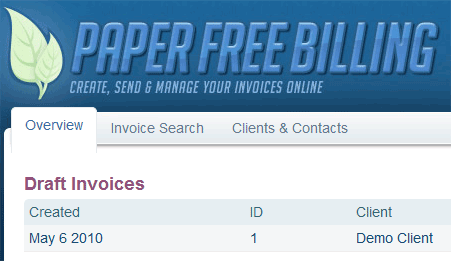 online invoicing system