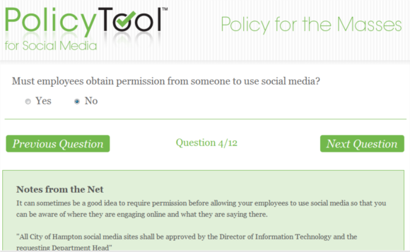 policytool   PolicyTool: Create A Social Media Policy For Your Company