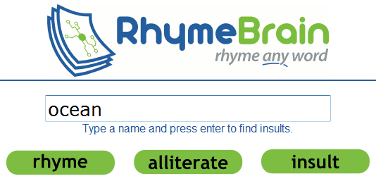 rhymebrain   RhymeBrain: Site For Finding Rhymes For Words & Phrases