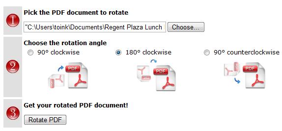 rotate pdf document online