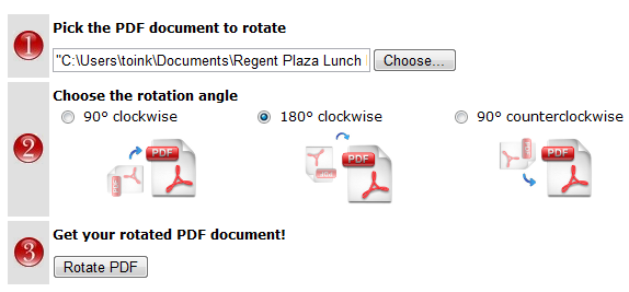 rotate pdf document online
