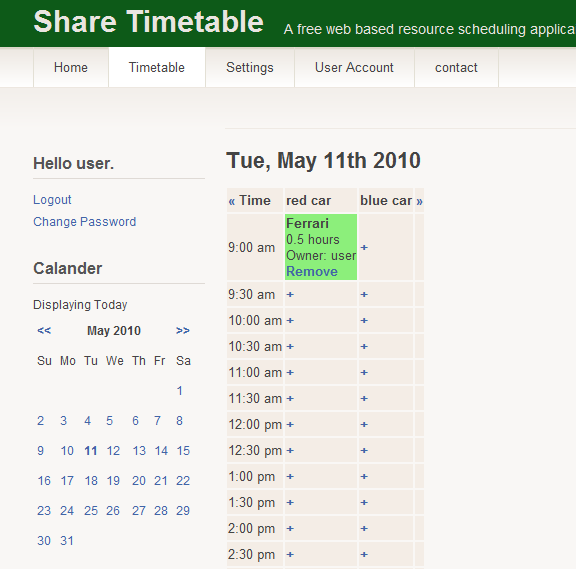 free resource scheduling tool
