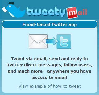 twitter through email