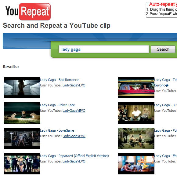 youtube video repeater