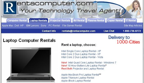 rent lap top computers