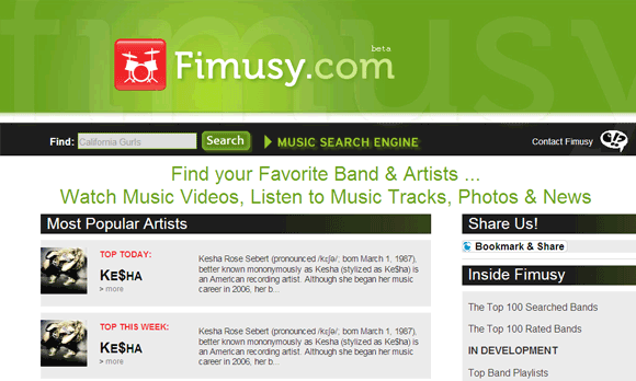 music search engines