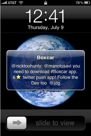 push notifications on iphone