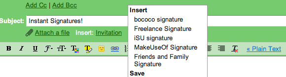 creating email signatures