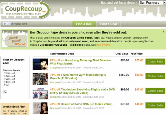 local discount coupon