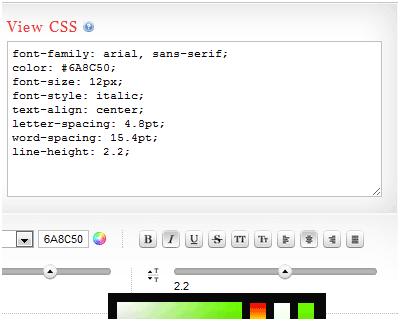 generate css code1