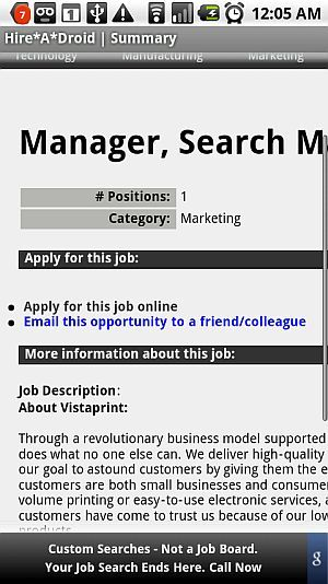 Search Jobs Form Your Android Mobile Phone with Hire-A-Droid device12