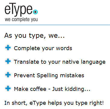 etype   eType: Windows Tool To Auto Complete Words, Spell Check & Translation (500 Invites)