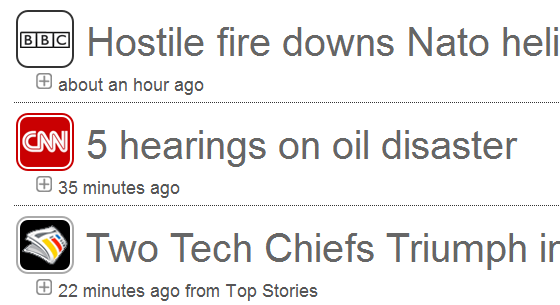 news feed ticker