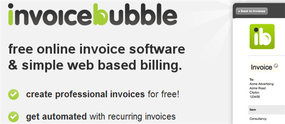 invoicebubble1   Invoice Bubble: Simple Invoicing Program Online