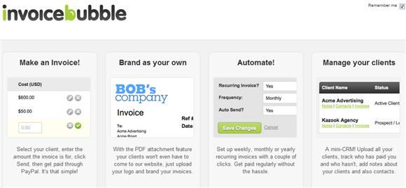 invoicebubble2   Invoice Bubble: Simple Invoicing Program Online