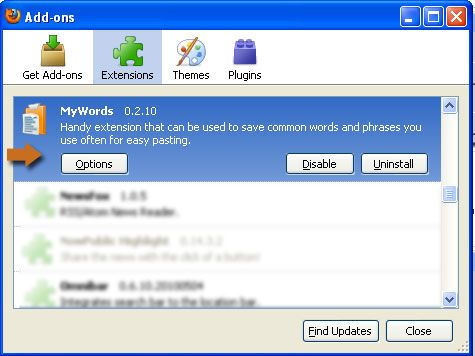 Stop Typing The Same Words Again and Again with MyWords [Firefox] mywords 02