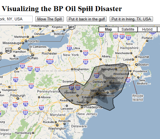 bp oil spill map