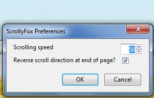 automatic scrolling firefox