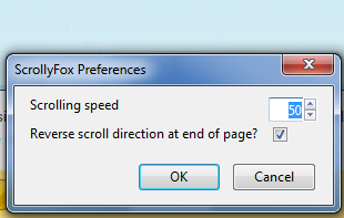 automatic scrolling firefox