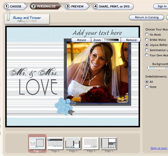 5 Simple Free Scrapbooking Sites for Beginners smilebox2