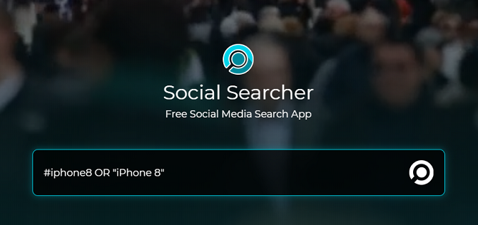 Social media search engine