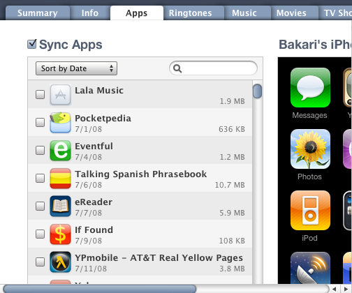 software to organize iphone apps