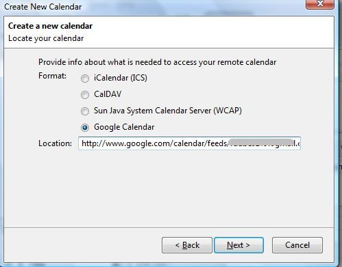 How To Setup Mozilla Sunbird As A Desktop Client For Google Calendar sunbird6