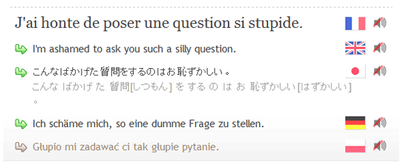 sentence translations