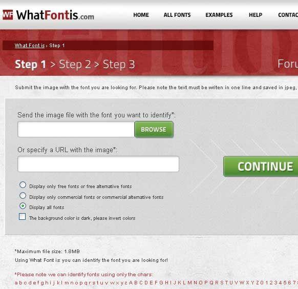 online font identifier