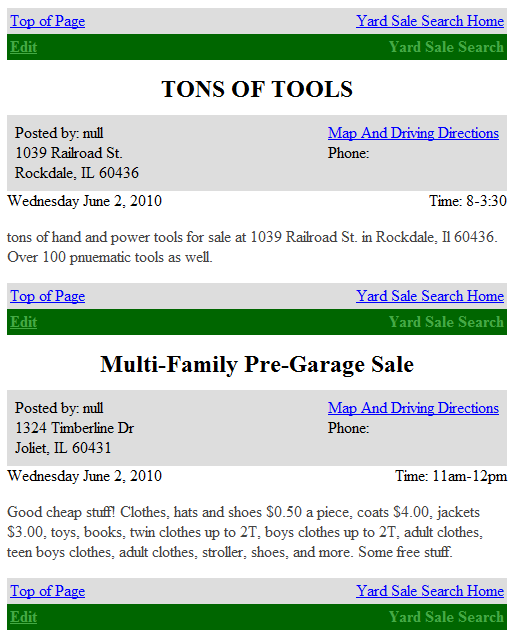 yardsale   YardSaleSearch: Post & Find Yard Sales Online For Free