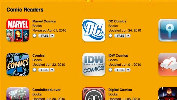 dc comics on iphone