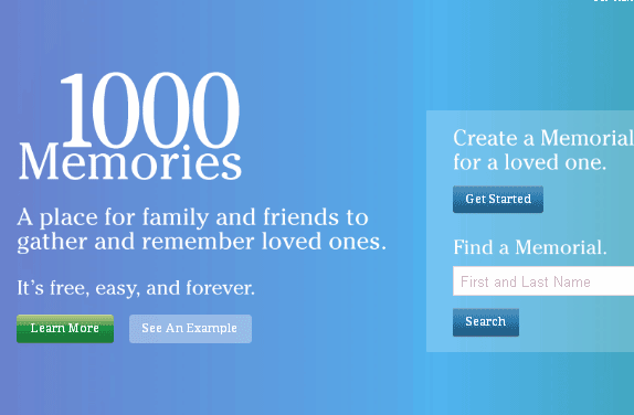 online memorial pages