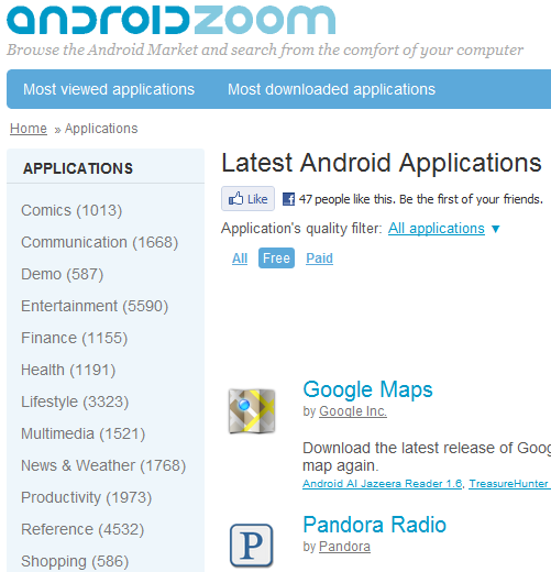 Top 5 Sites to Help You Find Apps for Your Android Phone 3 droidapps androidzoom1