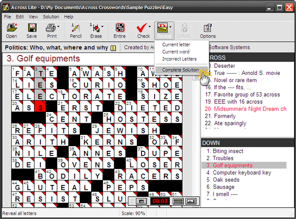 Go Down Across To Solve Crossword Puzzles With Lite