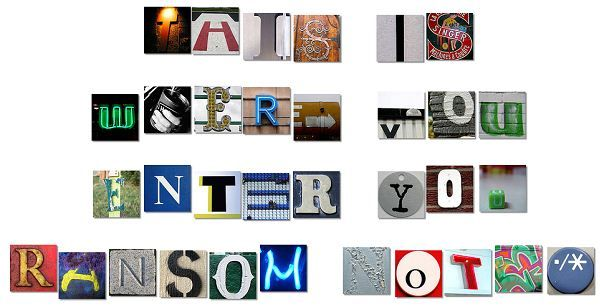 create a ransom note