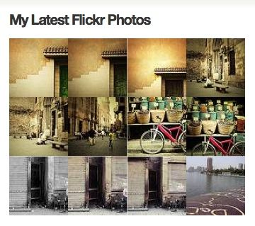 display flickr photos