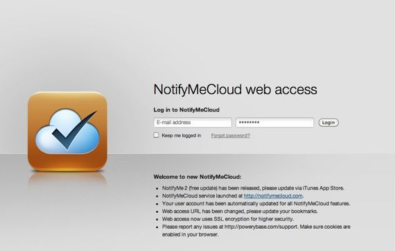 Never Forget Anything Ever Again With NotifyMe 2 and Bills [Giveaway] NotifyMeCloud web access