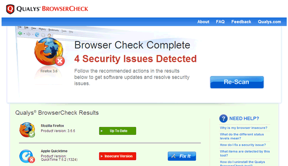 browser security test