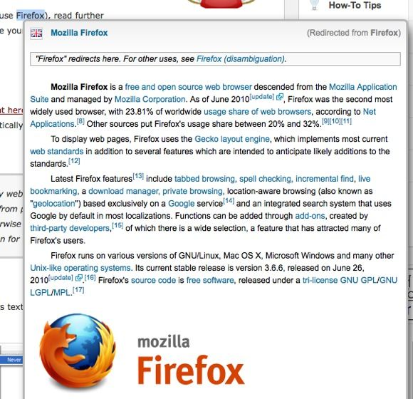 wikipedia plugin firefox