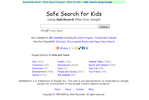 10 Search Engines For Kids That Help Out Parents With Safe Browsing SEforKids08