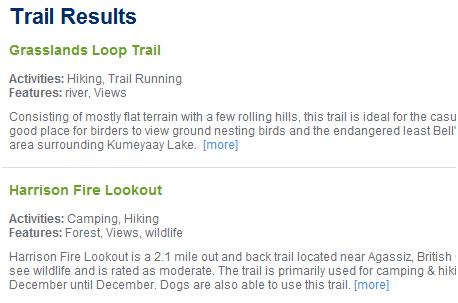 find hiking trails