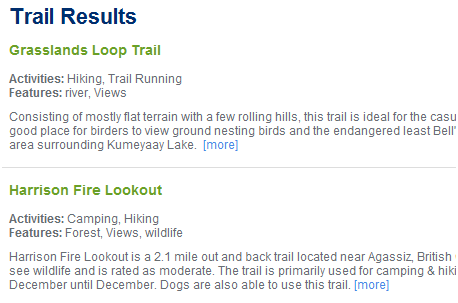 find hiking trails