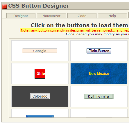 generate web buttons